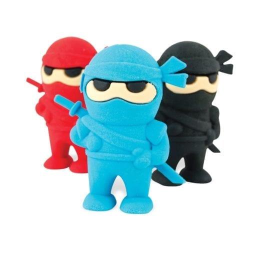 112642 OOLY Suddgummi Ninja Erasers Set om 3