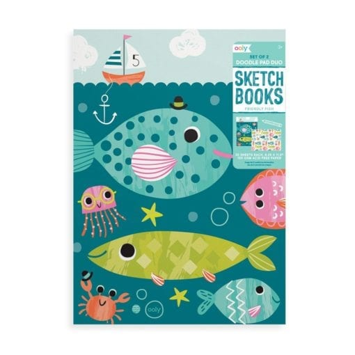 112648 OOLY Ritblock Friendly Fish 2-Pack