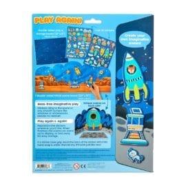 112657-6 OOLY Återanvändbara Klistermärken Space Critters Reusable Sticker Scenes