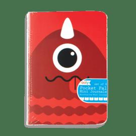 112658-6 OOLY Anteckningsbok Pocket Pal Journals Monsters - Set om 8