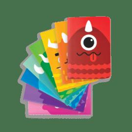 112658-7 OOLY Anteckningsbok Pocket Pal Journals Monsters - Set om 8