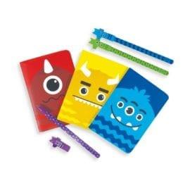 112658 OOLY Anteckningsbok Pocket Pal Journals Monsters - Set om 8