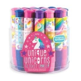 OOLY Suddgummi Unique Unicorns ClickIt Eraser