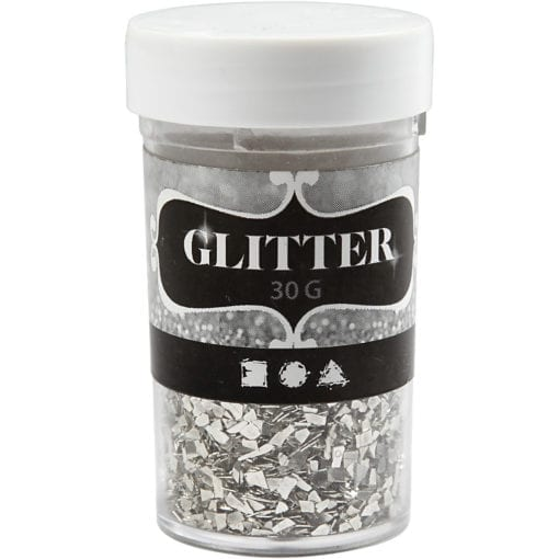 112683 Glitter Flakes Silver 1-3 mm 30 g