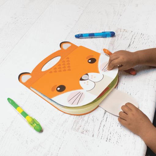 112688-3 OOLY Ritblock Carry Along Sketchbook Fox