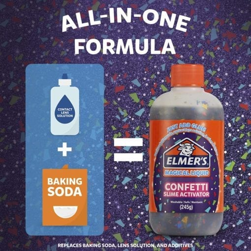 112691-2 Elmer's Confetti Aktivator 255 ml Till PVA Lim För Slime