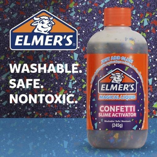 112691-3 Elmer's Confetti Aktivator 255 ml Till PVA Lim För Slime