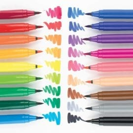 112701-1 OOLY Tuschpennor BIG Bright Washable Brush Markers - Set om 18