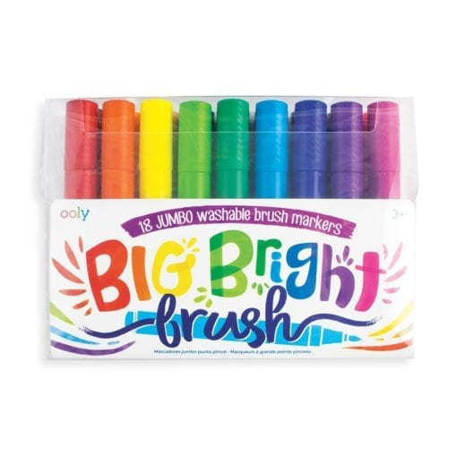 112701 OOLY Tuschpennor BIG Bright Washable Brush Markers - Set om 18