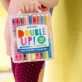 112702 OOLY Tuschpennor Double Up! 2-in-1 Washable Mini Marker - Set om 36