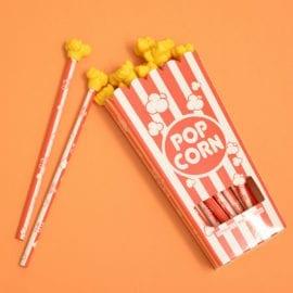 112633-3 Pennset Popcorn Grafitpennor Med Sudd Set om 12