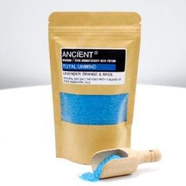 112718-1 Ancient Wisdom Badsalt Total Unwind Aromatherapy Bath Potion in Kraft Bag 350 gram