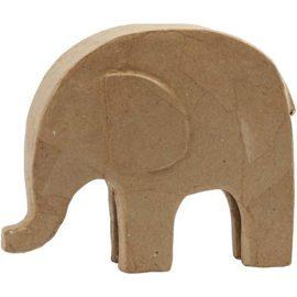 112728 Papier-Maché Elefant 21x24 cm