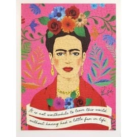 112738-4 Talking Tables Pussel Frida Kahlo Pick Me Up Jigsaw Puzzle 500 Pieces