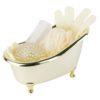 112749 Palmetten Presentset Spaprodukter Minibadkar Guld