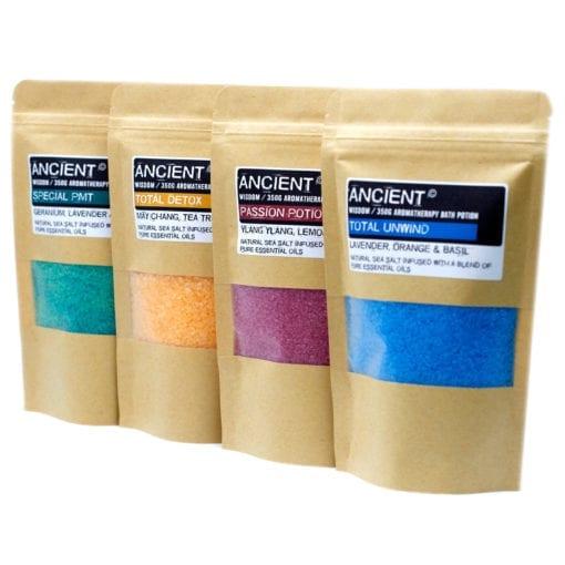 Ancient Wisdom Aromatherapy Bath Potion in Kraft Bag 350 gram