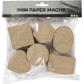 112785-1 Papier-maché Miniaskar 3x4-6 cm 6-Pack