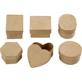 112785 Papier-maché Miniaskar 3x4-6 cm 6-Pack