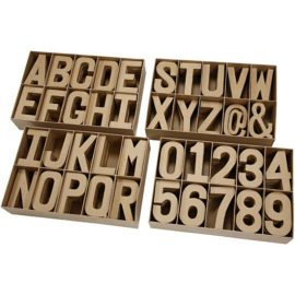112786 Papier-maché Stora Bokstäver, Siffror & Tecken 20.5-2.5 cm
