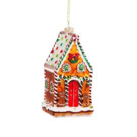 112799 Sass & Belle Julgranskula Gingerbread House Shaped Bauble