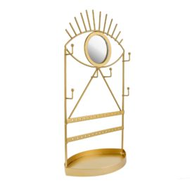 112810-1 Sass & Belle Spegel & Smyckesfat Gold Eye See You Jewellery Holder With Mirror
