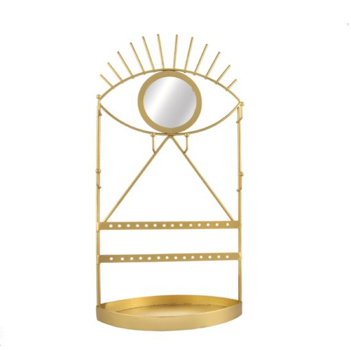 112810 Sass & Belle Spegel & Smyckesfat Gold Eye See You Jewellery Holder With Mirror