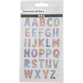 112814-1 Diamond Stickers Alfabetet 15x16.5 cm 1 Ark