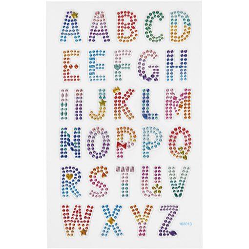 112814 Diamond Stickers Alfabetet 15x16.5 cm 1 Ark