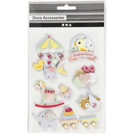 112835-1 3D-Stickers Baby 8 St. 1 Ark