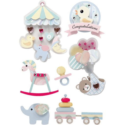 112835 3D-Stickers Baby 8 St. 1 Ark