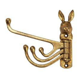 112883-1 Sass & Belle Väggkrok Gold Rabbit Multi Hook
