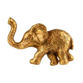 112884 Sass & Belle Knopp Gold Elephant Drawer Knob