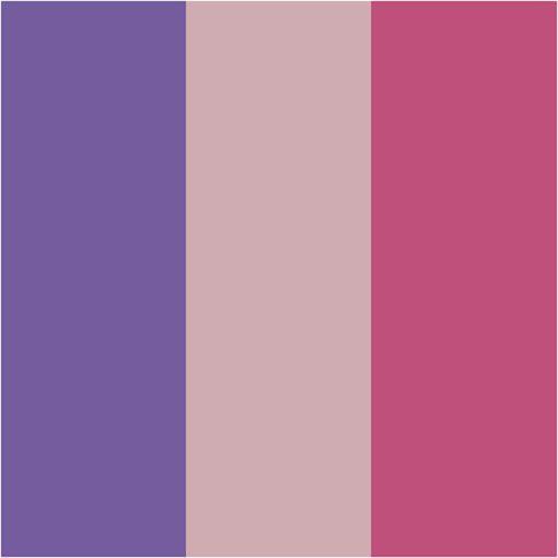 112896-2 Plus Color Vattenbaserad heltäckande Tusch Dusty Rose, Fuchsia, Dark Lilac