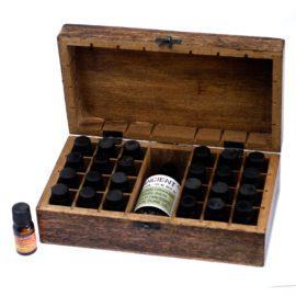 112907-2 Ancient Wisdom Skrin, Förvaringslåda i Mangoträ för 24+1 Eteriska Oljor, Parfymoljor - Aromaterapi