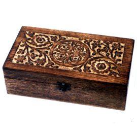 112907 Ancient Wisdom Skrin, Förvaringslåda i Mangoträ för 24+1 Eteriska Oljor, Parfymoljor - Aromaterapi