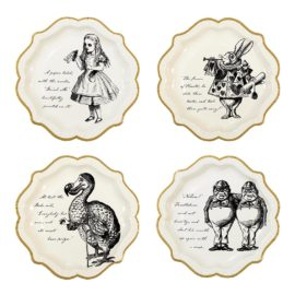 112912 Talking Tables Papperstallrikar Alice i Underlandet 23 cm 12 st - Truly Alice