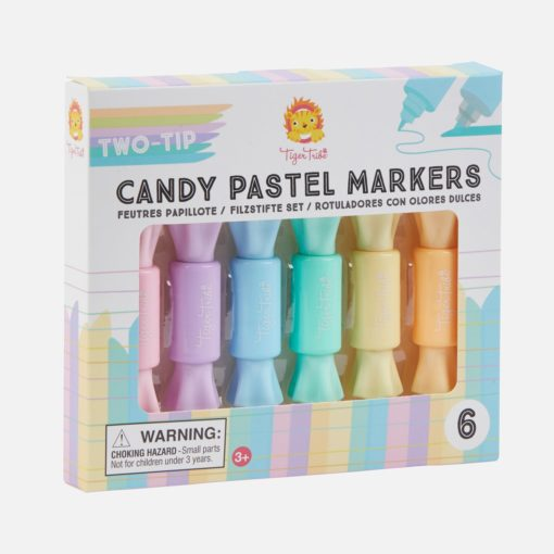 112965-1 Tiger Tribe Tuschpennor Two-Tip Candy Pastel Markers Set om 12