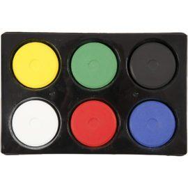 112973 Vattenfärg Tempera Primärfärger 19x57 mm 6 st Palett