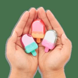 112976 OOLY Suddgummi Icy Pops Pastel Puzzle Erasers - Set om 3