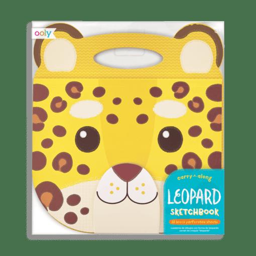 112978-5 OOLY Ritblock Carry Along Sketchbook Leopard