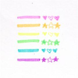 112982-6 OOLY Luktpennor Mini-överstrykningspennor Pastell med Doft av Frukt 6 st