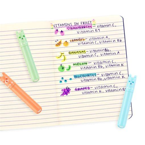 112982-7 OOLY Luktpennor Mini-överstrykningspennor Pastell med Doft av Frukt 6 st