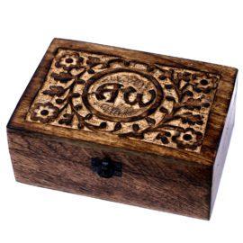 113002 Ancient Wisdom Skrin, Förvaringslåda i Mangoträ för 24 Eteriska Oljor, Parfymoljor - Aromaterapi