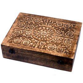 113003 Ancient Wisdom Skrin, Förvaringslåda i Mangoträ för 80 Eteriska Oljor, Parfymoljor - Aromaterapi