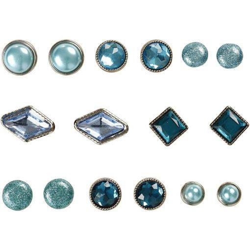 113008 Vivi Gade Design Dekorationsnitar Brads med Facettyta 8 Mix, Blå 16 st