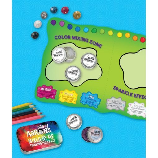 113036-2 Crazy Aarons Thinking Putty Holographic Glitter – Mixed By Me Kit