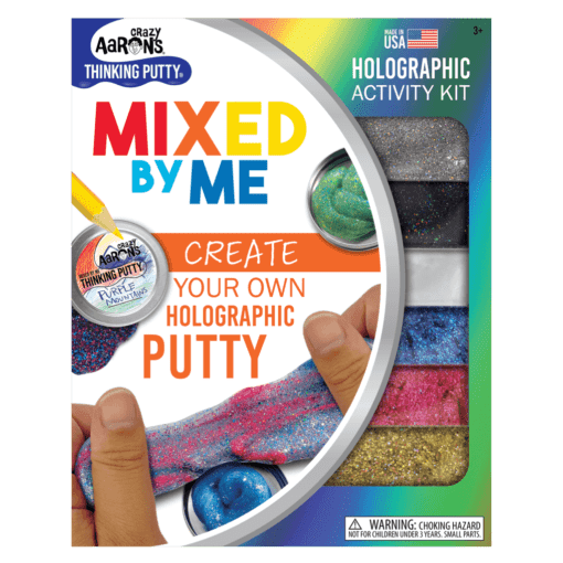 113036 Crazy Aarons Thinking Putty Holographic Glitter – Mixed By Me Kit