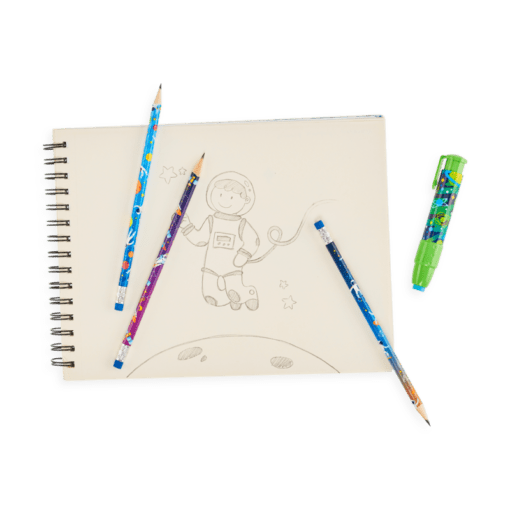 113073-3 OOLY Grafitpennor Astronaut Graphite Pencils - Set om 12