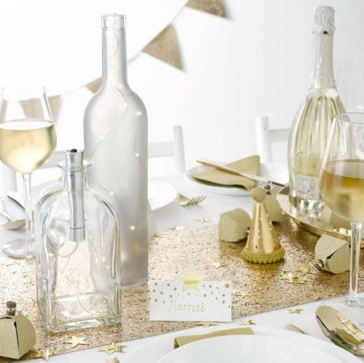 113081-1 Talking Tables Bordskonfetti Stjärnor i Guldmetallic – Party Porcelain