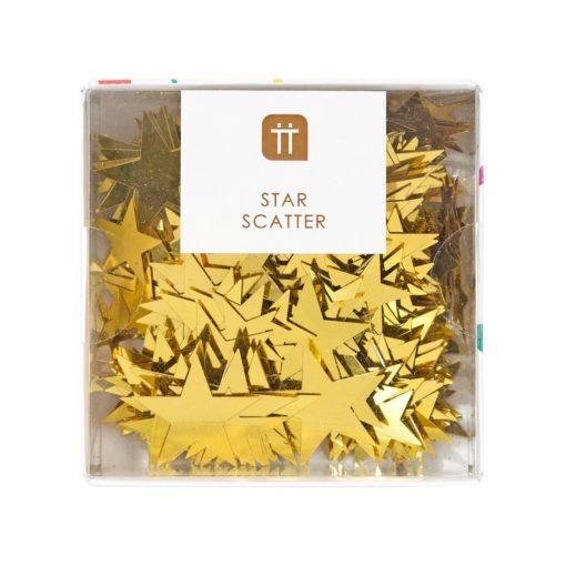 113081 Talking Tables Bordskonfetti Stjärnor i Guldmetallic – Party Porcelain